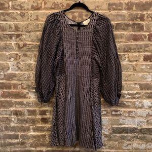 NWT Anthropologie Dolman Sleeve Polka Dot Dress